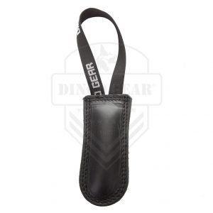 Motivador de cuero duro negro con asa Dingo Gear.