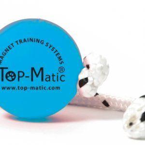 Pelota azul con cuerda TopMatic