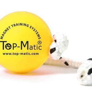 Pelota amarilla con cuerda de TopMatic.